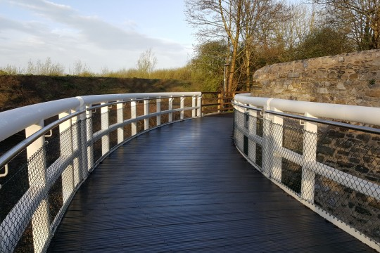 36m long 3 span curved bridge
